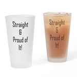 Straight Proud of It (L) Drinking Glass
