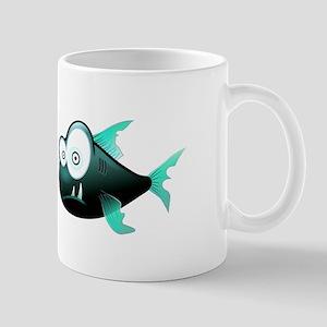 Cartoon Piranha Fish Mugs