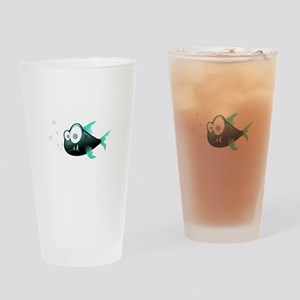 Cartoon Piranha Fish Drinking Glass