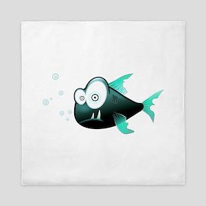 Cartoon Piranha Fish Queen Duvet