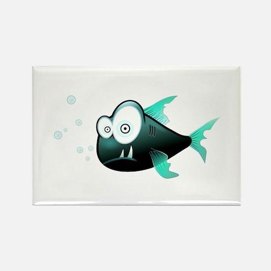 Cartoon Piranha Fish Magnets