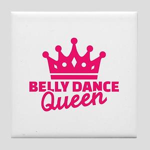 Belly dance queen Tile Coaster