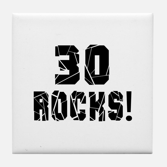 30 Rocks Birthday Designs Tile Coaster