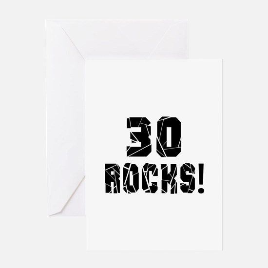 30 Rocks Birthday Designs Greeting Card
