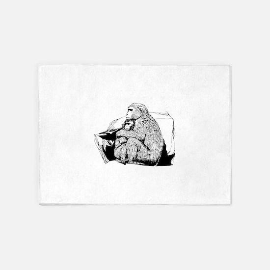 Macaque 5'x7'Area Rug