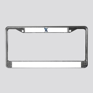 winged ribbon dragon License Plate Frame