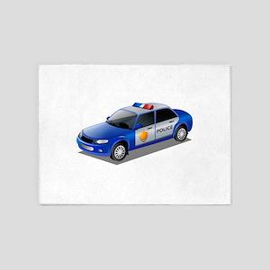 Police car 5'x7'Area Rug