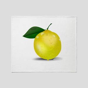 Lemon photorealistic Throw Blanket