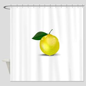 Lemon photorealistic Shower Curtain