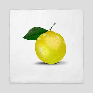 Lemon photorealistic Queen Duvet
