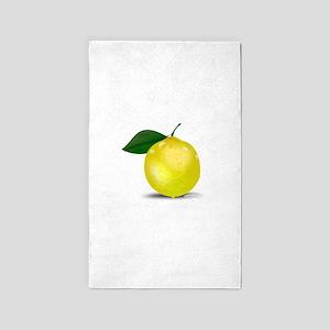 Lemon photorealistic Area Rug