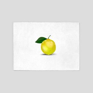 Lemon photorealistic 5'x7'Area Rug