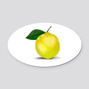 Lemon photorealistic Oval Car Magnet