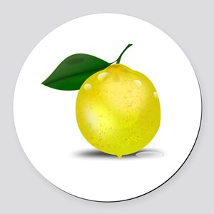 Lemon photorealistic Round Car Magnet