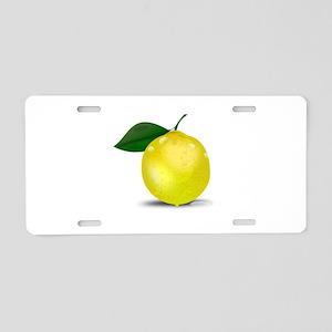 Lemon photorealistic Aluminum License Plate