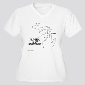 Alpena Women's Plus Size V-Neck T-Shirt