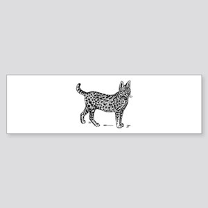 Serval Bumper Sticker