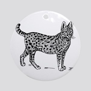 Serval Round Ornament
