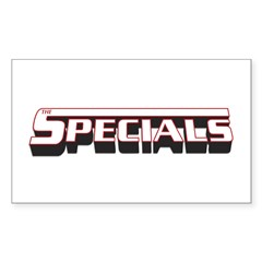 The Specials Lettering Rectangle Decal