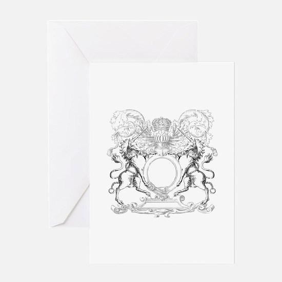 Horse crest Enigma Design Greeting Cards