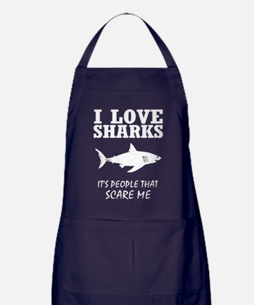 Cute Normal people scare me Apron (dark)