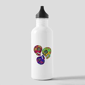 3 Little Sugar Skulls Stainless Water Bottle 1.0L
