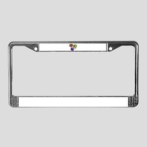 3 Little Sugar Skulls License Plate Frame
