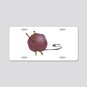Knitting yarn needles Aluminum License Plate