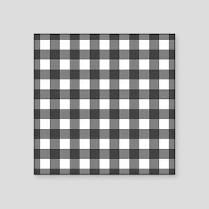 Black White Buffalo Plaid Sticker
