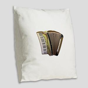 Brown Accordian Burlap Throw Pillow