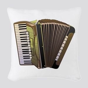 Brown Accordian Woven Throw Pillow