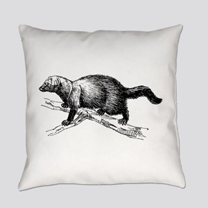 Silhouette bear Everyday Pillow