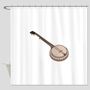 Wooden Banjo Shower Curtain