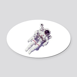 Astronaut Small Version Oval Car Magnet