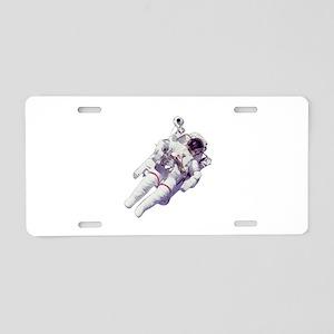 Astronaut Small Version Aluminum License Plate