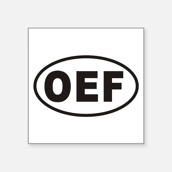 """Cute Oef Square Sticker 3"""" x 3"""""""