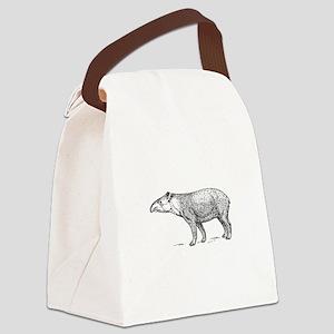 Tapir Canvas Lunch Bag