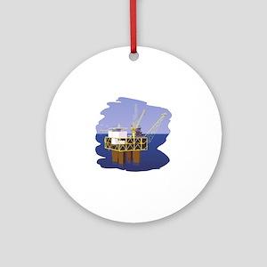 Oil rig Round Ornament