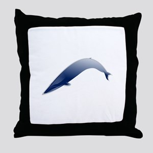 Blue whale Md Throw Pillow