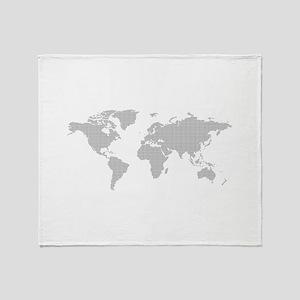 Dotted worldmap Throw Blanket