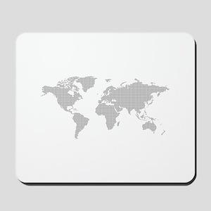 Dotted worldmap Mousepad