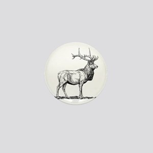 Elk silhouette Mini Button