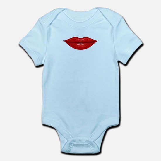 Red lovely lips Body Suit