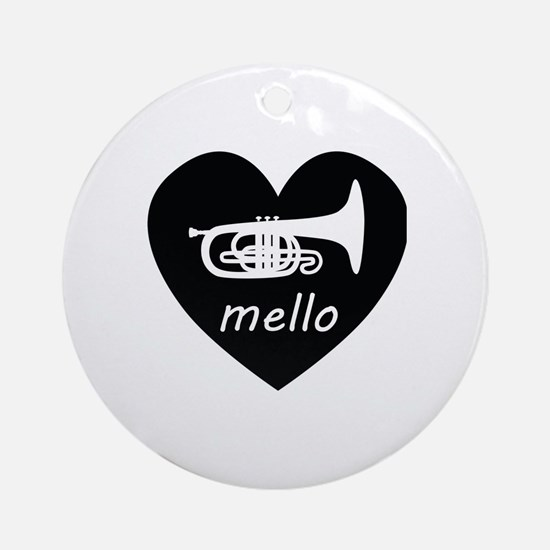 Funny Mellophone Round Ornament