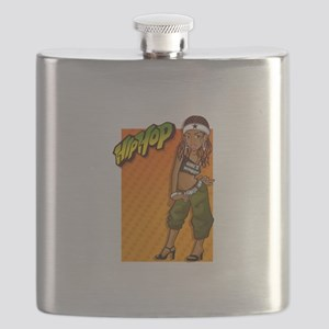 HipHop girl with hair band Flask