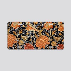 Floral by William Morris Aluminum License Plate