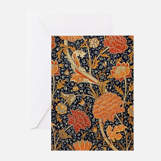 Floral by William Morris Greeting Cards