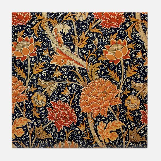 Floral by William Morris Tile Coaster