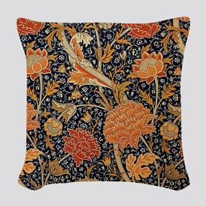 Floral by William Morris Woven Throw Pillow