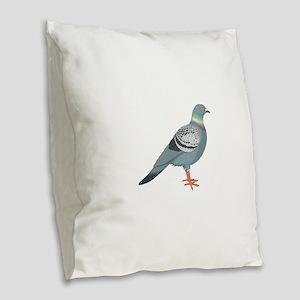 Grey pigeon Burlap Throw Pillow